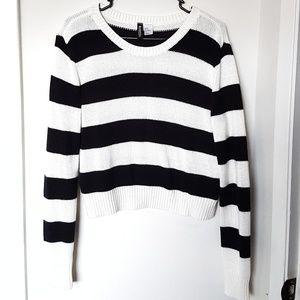 Black&White Striped Sweater